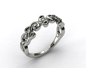Platinum Blossoming Vine Diamond Wedding Ring