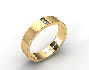 18K Yellow Gold 6mm Recessed Diamond Wedding Ring
