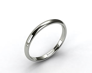 Platinum 3mm Slightly Domed Comfort Fit Wedding Ring