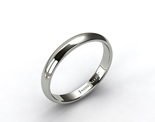 Platinum 4mm Slightly Domed Comfort Fit Wedding Ring