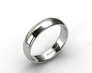 Platinum 6mm Slightly Domed Comfort Fit Wedding Ring