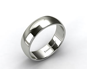 Platinum 8mm Slightly Domed Comfort Fit Wedding Ring