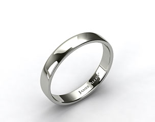 18k White Gold 4.5mm Slightly Flat Comfort Fit Wedding Ring