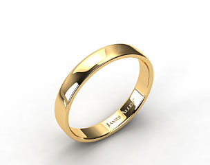 14k Yellow Gold 4.5mm Slightly Flat Comfort Fit Wedding Ring