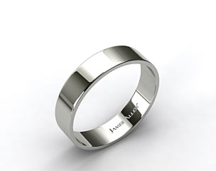 Platinum 6.0mm Flat Comfort Fit Wedding Ring