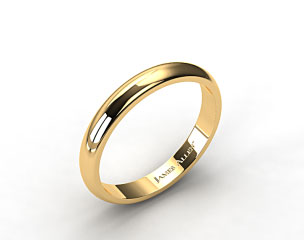 14k Yellow Gold 4.0mm High Dome Comfort Fit Wedding Ring