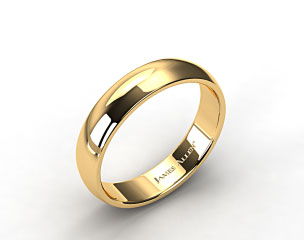 14k Yellow Gold 6.0mm Low Dome Wedding Ring
