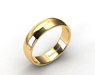 14k Yellow Gold 7.0mm Low Dome Wedding Ring