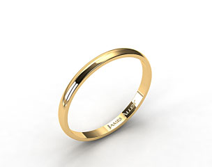 14k Yellow Gold 2.5mm Traditional Comfort Fit Wedding Ring