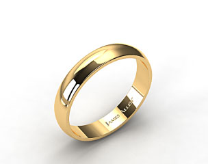 14k Yellow Gold 5.0mm Traditional Slightly Curved Wedding Ring