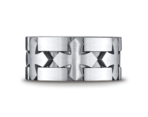 Cobaltchrome™ 10mm Celtic Cross Wedding Ring