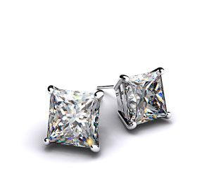 18k White Gold 1.00ctw Diamond Stud Earrings