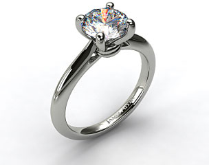 Platinum Double Bevel Knife Edge Engagement Ring
