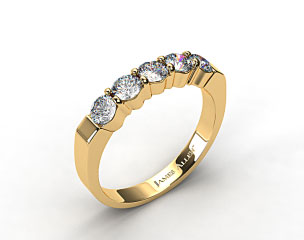 18k Yellow Gold 0.90ct Five Stone Diamond Wedding Ring