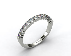 18k White Gold 0.50ct Common Prong Diamond Wedding Ring