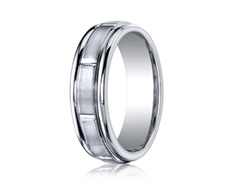 Cobaltchrome 7mm Comfort-Fit Satin Finish Design Ring 11547CO