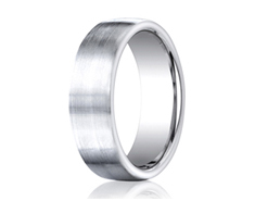 Cobaltchrome  7.5mm Comfort-Fit Satin-Finished Design Ring 11556CO