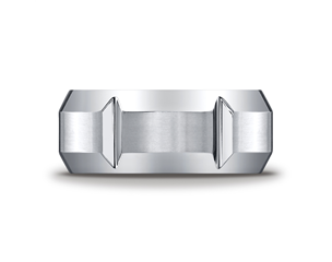 Cobaltchrome™ 10mm Vertical Grooved Wedding Ring