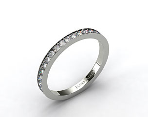 18k White Gold Pave Set Eternity Wedding Band