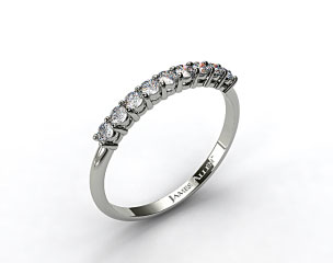 14K White Gold 0.58ct Prong Set Round Shaped Diamond Wedding Ring
