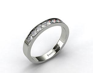 Platinum 0.24ct Channel Set Round Shaped Diamond Wedding Ring
