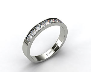 14K Yellow  Gold 0.24ct Channel Set Round Shaped Diamond Wedding Ring