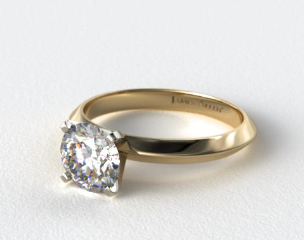 14k Yellow Gold Presentation Solitaire (Four Prong)