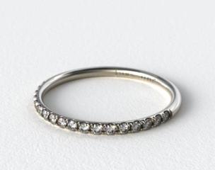 Platinum 1.5mm, 23 Stone, 0.16ctw Matching Pave Wedding Band