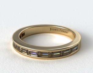 14K Yellow Gold Baguette Wedding Ring