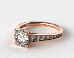 14K Rose Gold Inspired Diamond Engagement Ring
