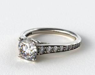 Platinum Inspired Diamond Engagement Ring