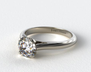 Platinum Sleek Diamond Engagement Ring
