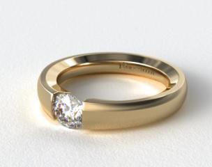 14K Yellow Gold Contoured Tension V121 by Danhov Designer Engagement Ring