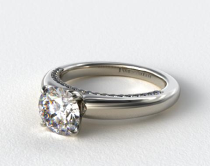Platinum Pave Rim Engagement Ring