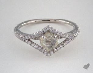"Platinum 1.15ct diamond ""Victorian ring"" featuring 0.34ctw in MicroPave diamonds"