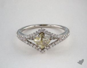 "Platinum 1.05ct diamond ""Victorian ring"" featuring 0.40ctw in MicroPave diamonds"