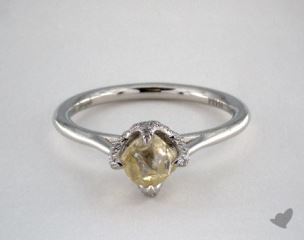 "Platinum 1.00ct diamond ""Signature ring"" featuring 0.12ctw in MicroPave diamonds"