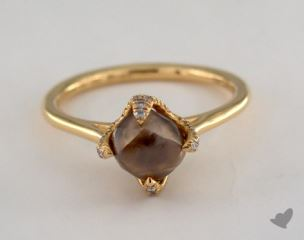 "18K Yellow Gold 2.40ct diamond ""Signature ring"" featuring 0.18ctw in MicroPave diamonds"
