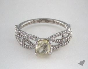 "Platinum 0.88ct diamond ""Vine ring"" featuring 0.28ctw in MicroPave diamonds"