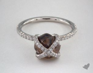 "Platinum 3.38ct diamond ""Embrace ring"" featuring 0.41ctw in MicroPave diamonds"