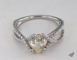 "Platinum 1.65ct diamond ""Unity ring"" featuring 0.37ctw in MicroPave diamonds"