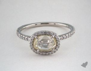 "Platinum 1.43ct diamond ""Classic ring"" featuring 0.36ctw in MicroPave diamonds"