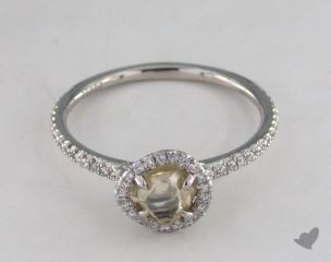 "Platinum 1.03ct diamond ""Classic ring"" featuring 0.24ctw in MicroPave diamonds"