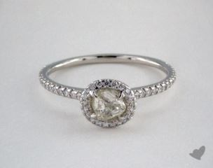 "Platinum 0.70ct diamond ""Classic ring"" featuring 0.28ctw in MicroPave diamonds"