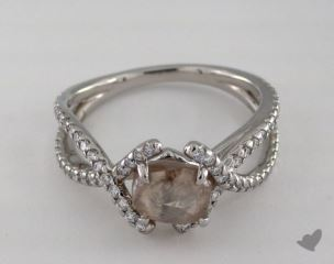 "Platinum 1.93ct diamond ""Unity ring"" featuring 0.43ctw in MicroPave diamonds"