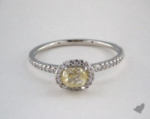 "Platinum 0.71ct diamond ""Classic ring"" featuring 0.32ctw in MicroPave diamonds"