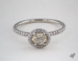 "Platinum 0.79ct diamond ""Classic ring"" featuring 0.31ctw in MicroPave diamonds"