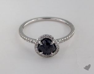 "18K White Gold 1.03ct diamond ""Classic ring"" featuring 0.33ctw in MicroPave diamonds"