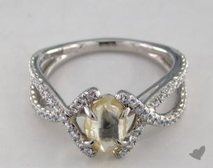 "Platinum 1.16ct diamond ""Unity ring"" featuring 0.41ctw in MicroPave diamonds"