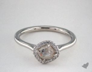 "Platinum 0.85ct diamond ""Grace ring"" featuring 0.06ctw in MicroPave diamonds"